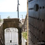 Entrance gate and steps to Sundial House in Lyme Regis